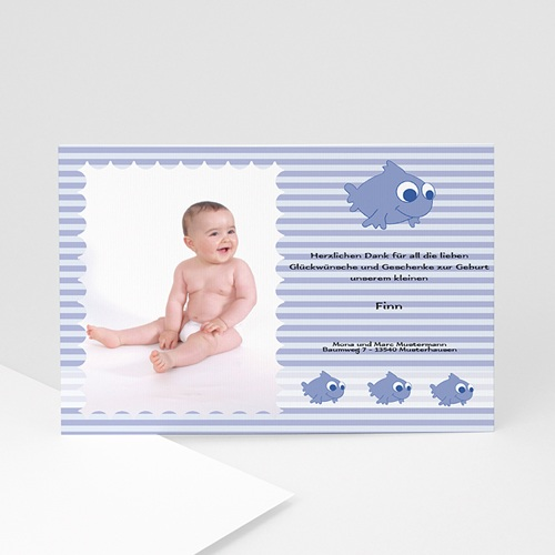 Dankeskarten Geburt Jungen - Nemo 5423