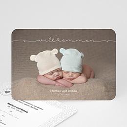 Babykarten für Zwillinge gestalten Baby Zwillinge