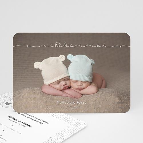 Geburtskarten Für Zwillinge Baby Zwillinge