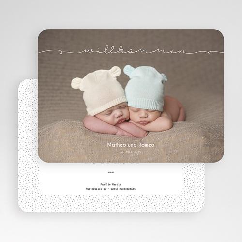 Babykarten für Zwillinge gestalten - Baby Zwillinge 54232 preview