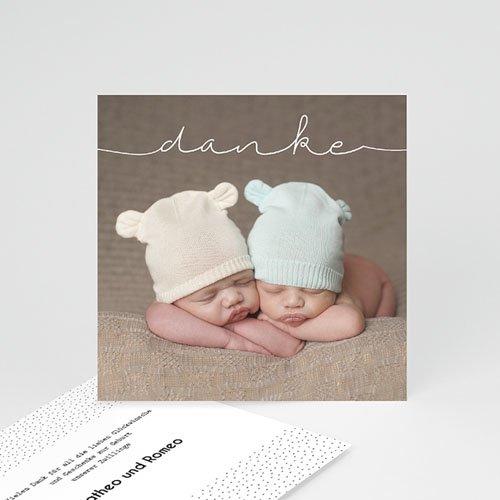 Dankeskarten Geburt - Baby Zwillinge 54239