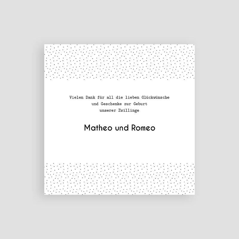 Dankeskarten Geburt - Baby Zwillinge   Carteland.de