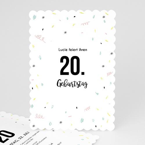 Runde Geburtstage - Luftschlangen 54248