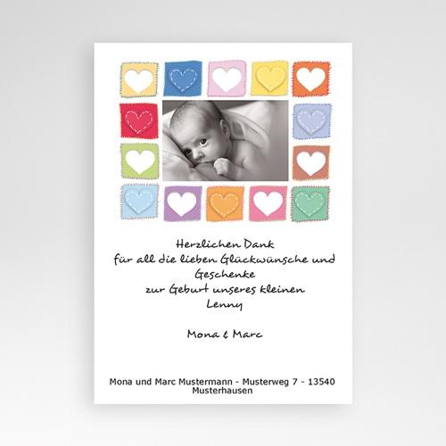 Dankeskarten Geburt Mädchen - Die Herzkarte 5427