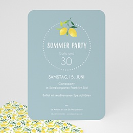 Einlegekarte Anniversaire adulte Summer Party