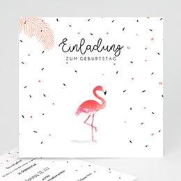 Einlegekarte Anniversaire adulte Wasservogel