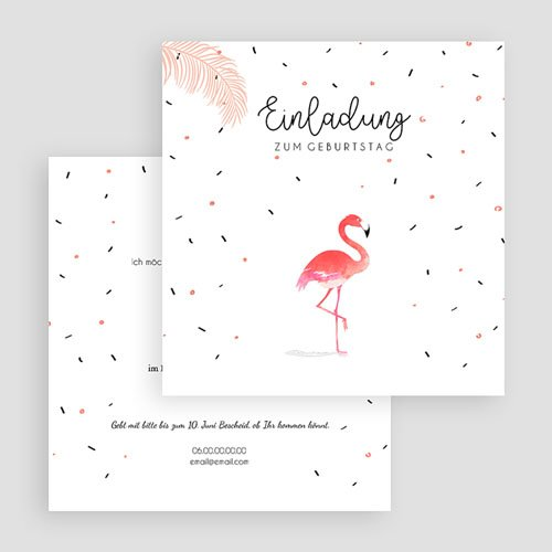 Erwachsener Einladungskarten Geburtstag Wasservogel gratuit