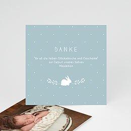 Danksagungskarten Geburt Vintage Hase