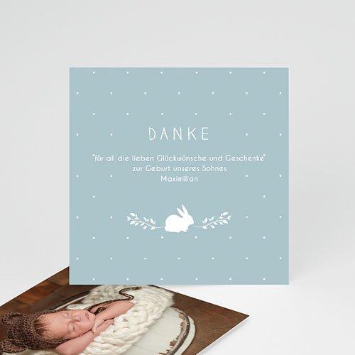 Dankeskarten Geburt Jungen - Vintage Hase 54347 thumb