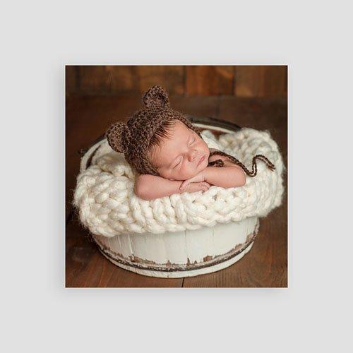 Dankeskarten Geburt Jungen - Vintage Hase 54348 preview