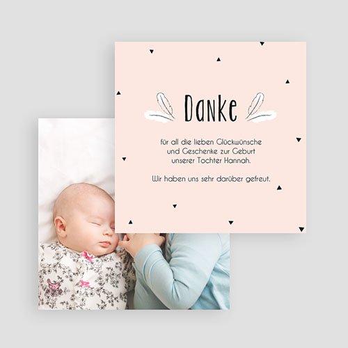 Dankeskarten Geburt Mädchen - Pinguin rosa 54358 test