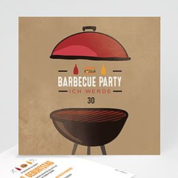 Einlegekarte Anniversaire adulte Grillparty