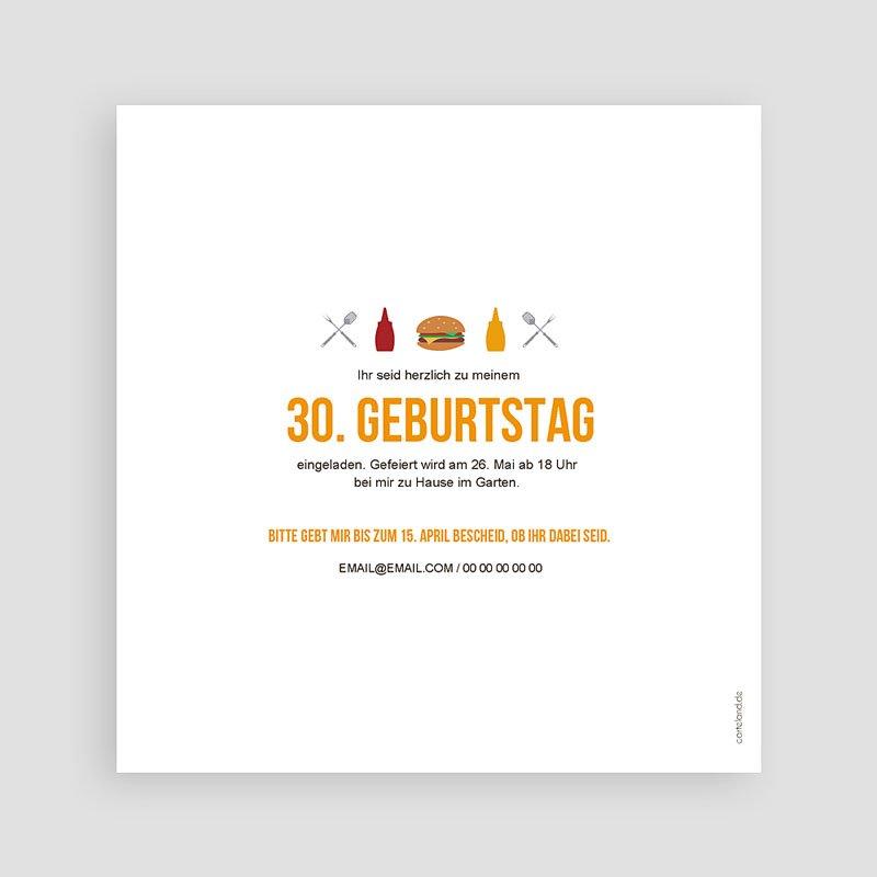 Erwachsener Einladungskarten Geburtstag Grillparty pas cher