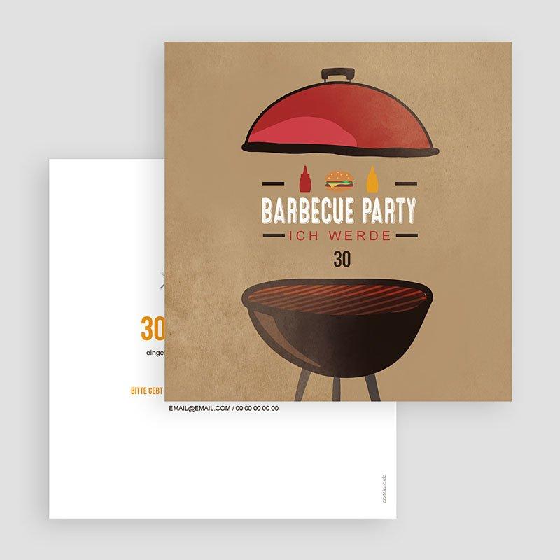 Erwachsener Einladungskarten Geburtstag Grillparty gratuit