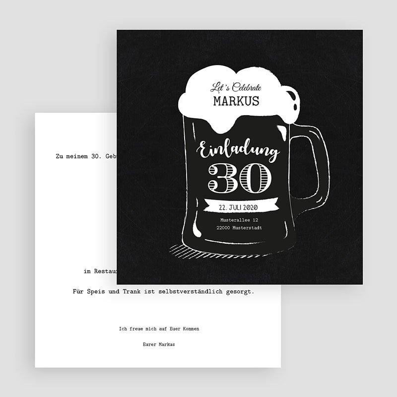 Runde Geburtstage Bierkrug gratuit