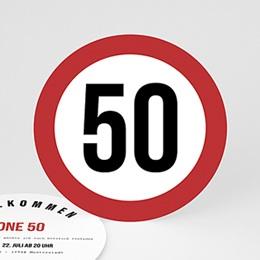 Einlegekarte Anniversaire adulte Zone 50