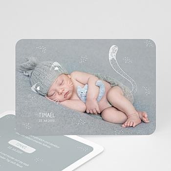 Geburtskarten für Jungen - Kleine Katze - 0
