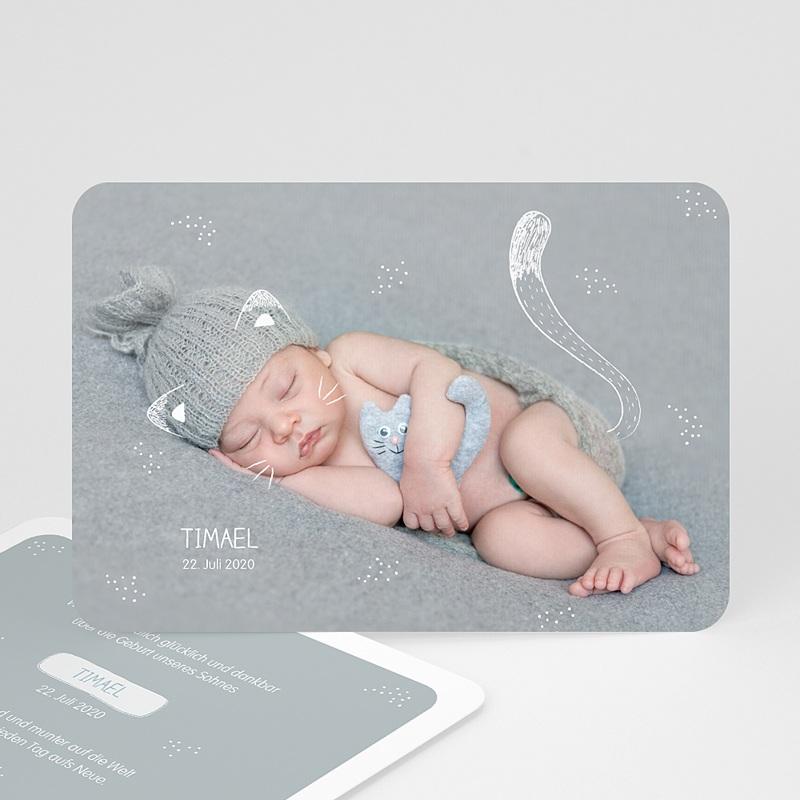 Geburtskarten für Jungen Kleine Katze