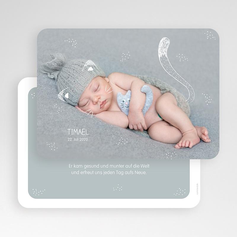 Geburtskarten für Jungen Kleine Katze gratuit
