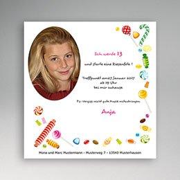 Einlegekarte Kindergeburtstag Sweet Ballons