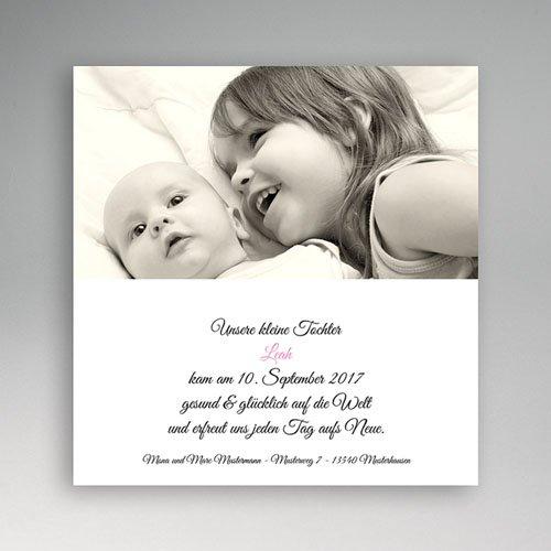 Geburtskarten für Mädchen - Klassisch 5455
