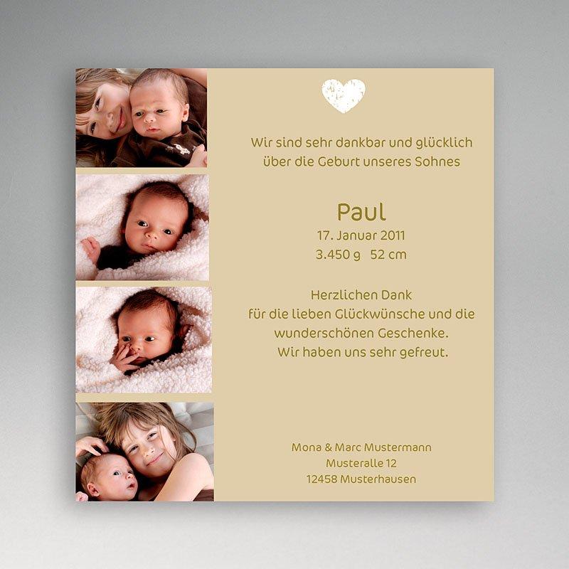 Geburtskarten für Mädchen Mini Fotoserie