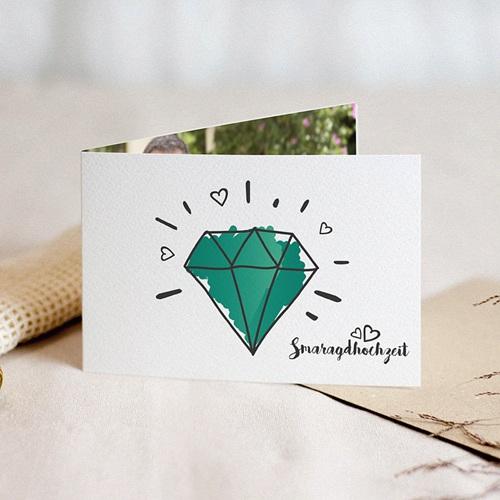 Silberhochzeit und goldene Hochzeit  - Smaragd 54635