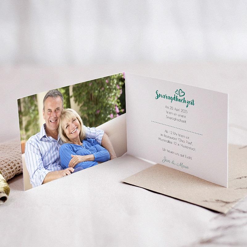 Silberhochzeit und goldene Hochzeit  - Smaragd 54636 thumb