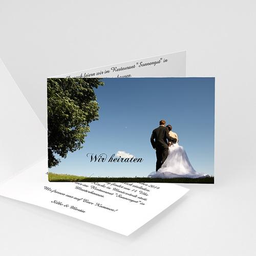 Hochzeitseinladungen modern - Festlicher bouquet 5467