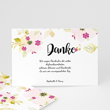Dankeskarten Hochzeit - Romance Watercolor - 0
