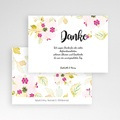 Dankeskarten Hochzeit - Romance Watercolor 54715 test