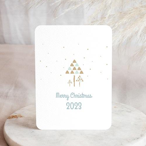 Weihnachtskarten - Goldene Tannen 54739