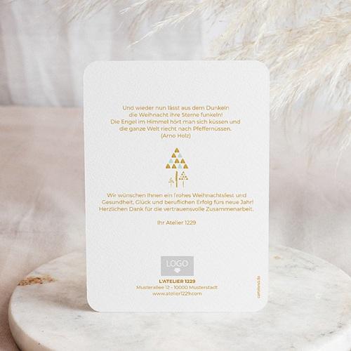 Weihnachtskarten - Goldene Tannen 54740 test