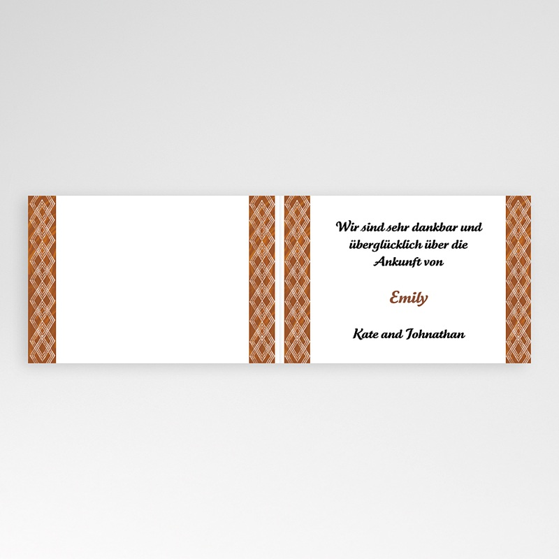 Geburtskarten für Mädchen Ebenholz pas cher
