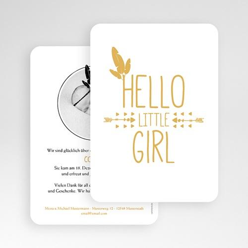 Geburtskarten für Mädchen - Indianerin in Gold  54783 test