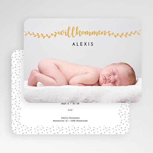 Geburtskarten für Jungen Willkommen in Gold gratuit