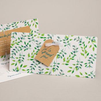 Einladungskarten Landhochzeit - Greenery - 0
