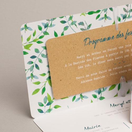 Hochzeitseinladungen Greenery gratuit