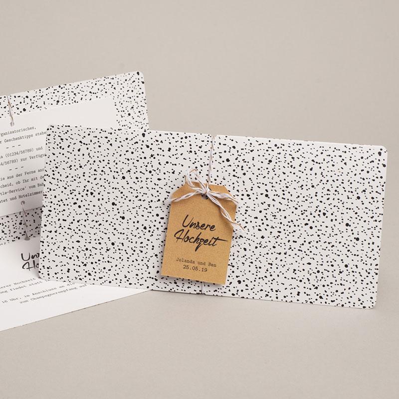 Hochzeitseinladungen Tusche Design