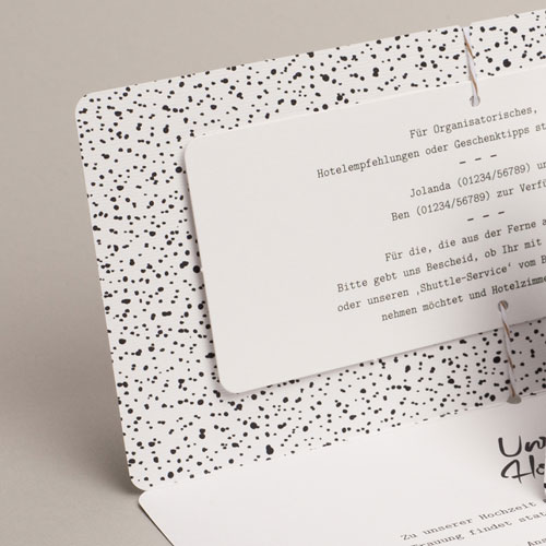 Hochzeitseinladungen modern - Tusche Design 54819 preview