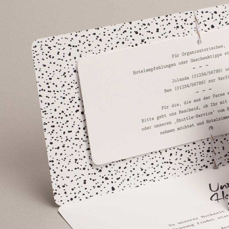 Hochzeitseinladungen Tusche Design gratuit