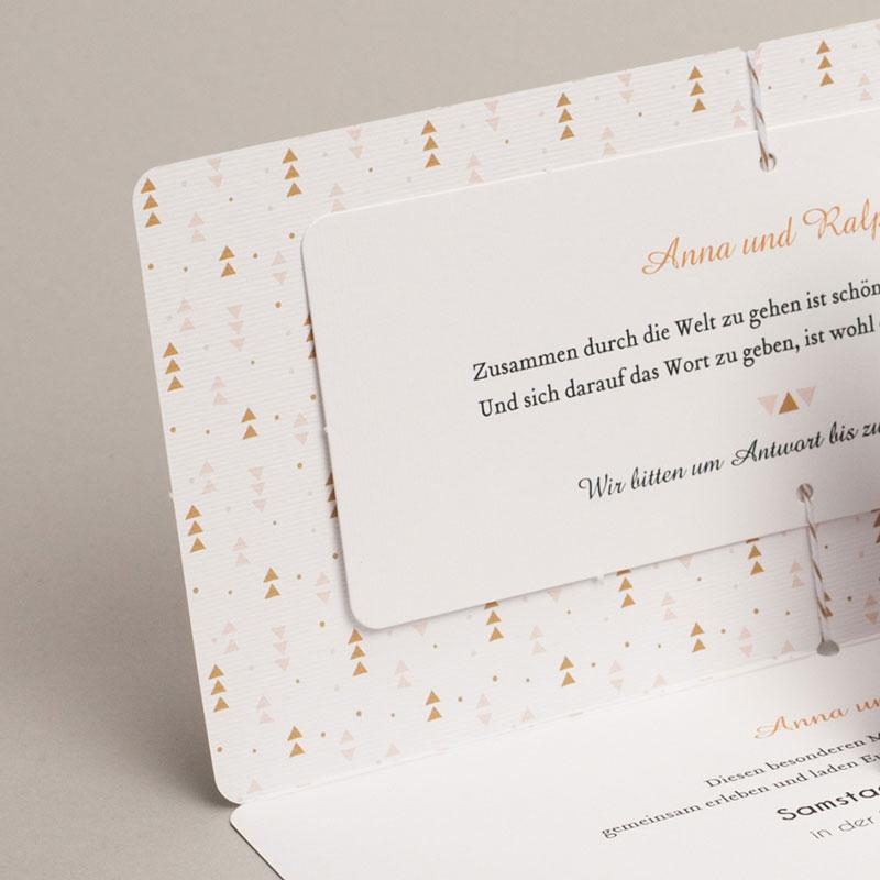 Hochzeitseinladungen Goldzauber gratuit