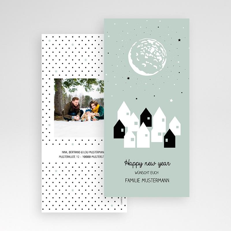 Weihnachtskarten Sternenstadt pas cher