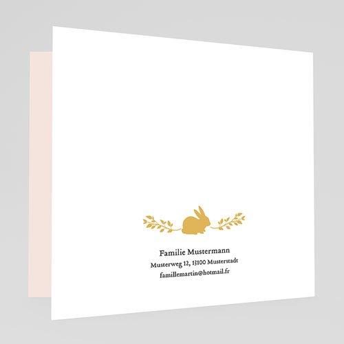 Geburtskarten für Mädchen - Hase in Gold 54869 thumb