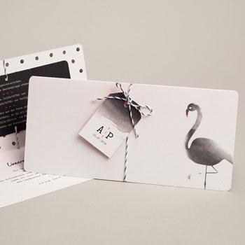 Kreative Hochzeitskarten - Poetischer Flamingo - 0