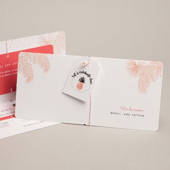 Einladungskarten Hochzeit  Tropical Pastell