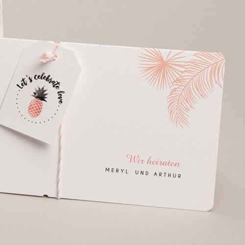 Hochzeitseinladungen Tropical Pastell pas cher