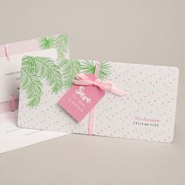 Karten Hochzeit Exotic chic