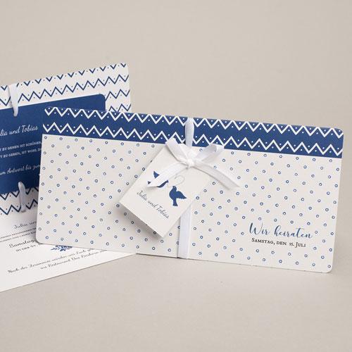 Klassische Hochzeitskarten  Turteltauben