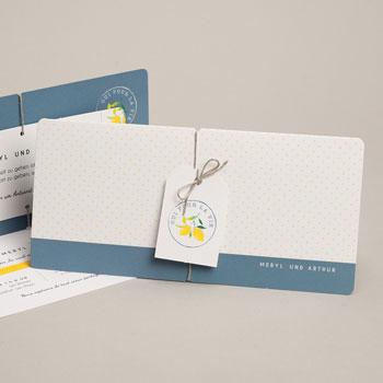 Hochzeitseinladungen modern - Lemons - 0